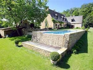 le debordement par l39esprit piscine 9 x 3 m revetement With revetement piscine pierre naturelle