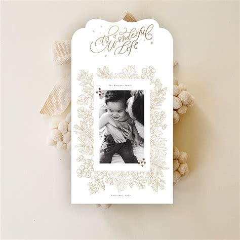 luxe holiday card   snap boutique