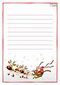Printable letter to santa claus paper with lines sleigh for Santa claus letter paper