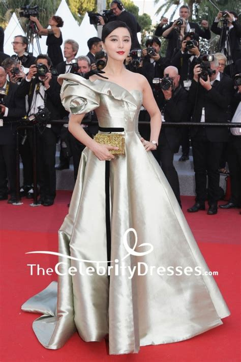 fan bingbing  shoulder ball gown  cannes film festival red carpet dress thecelebritydresses