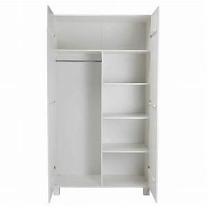 Armoire Blanche 2 Portes : armoire 2 portes en pin masssif blanc design scandinave denis ~ Teatrodelosmanantiales.com Idées de Décoration