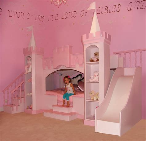 Sweet Dreams Nursery Products by Girls Bunk Bed Custom Made With Slide Amp Steps