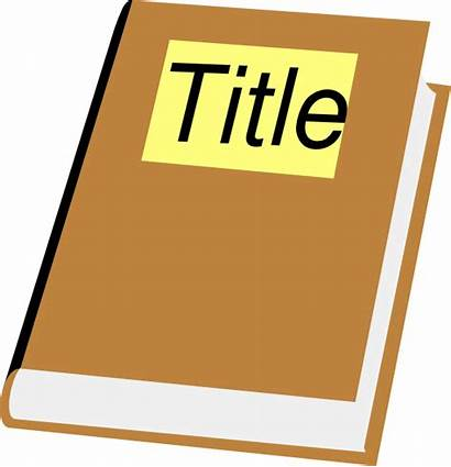Title Clipart Clip Titles Story Cliparts Books