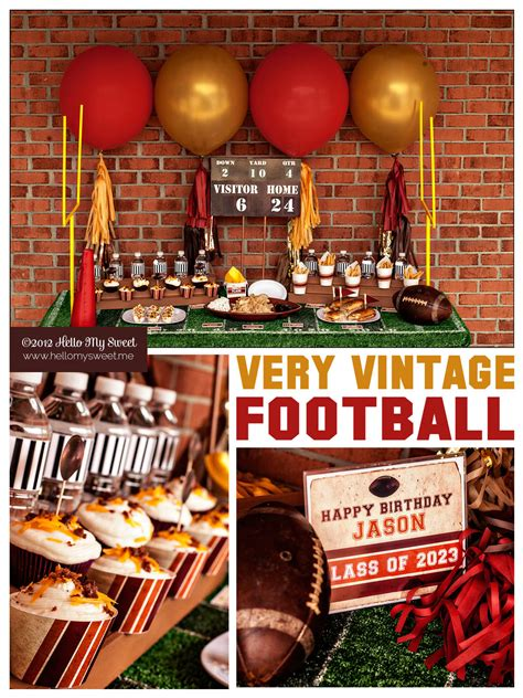 Football Decorations - a vintage football handmade decor the flair