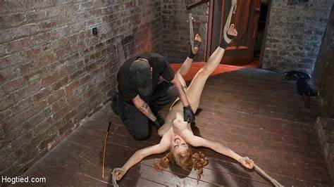 Redhead Princess Try Banged From Knee Penny Pax Flat Braids Gloves Girls Is Rope Bound