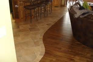 tile hardwood transition for the home