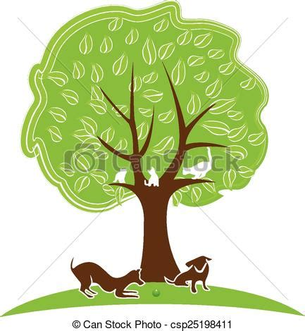 cat  dog tree logo tree  pets dogs  cats