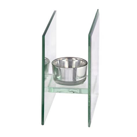 mirrored tea light candle holders single glass tea light candle holder silver mirrored backing