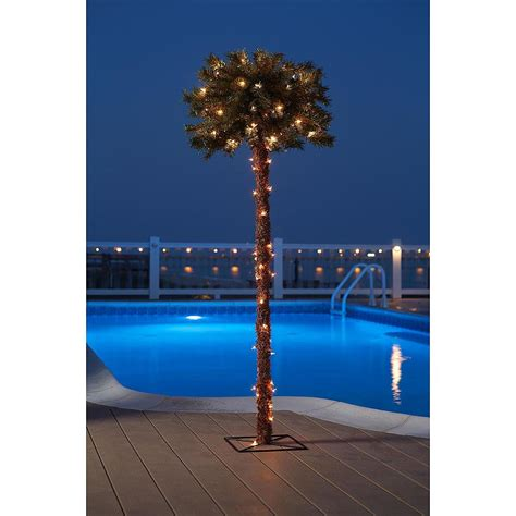 decorative palm trees with lights lighted palm tree decorative garden yard poolside decor