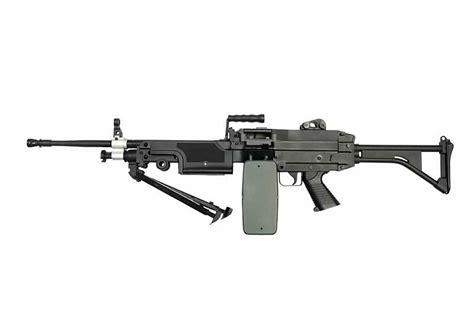 A&k Lmg M249 Saw Aeg Machine Gun