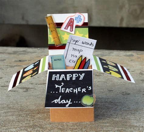 handmade cards teachers day pop  card