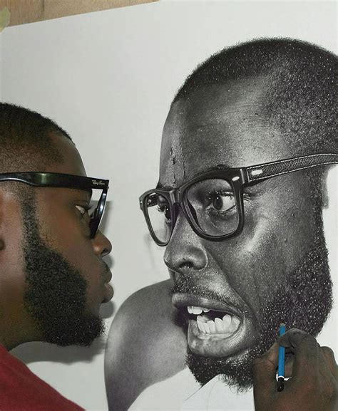 hyperrealistic pencil drawings  nigerian artist