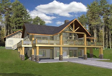 Plan 35427GH: Mountain Home with Wrap Around Deck in 2020