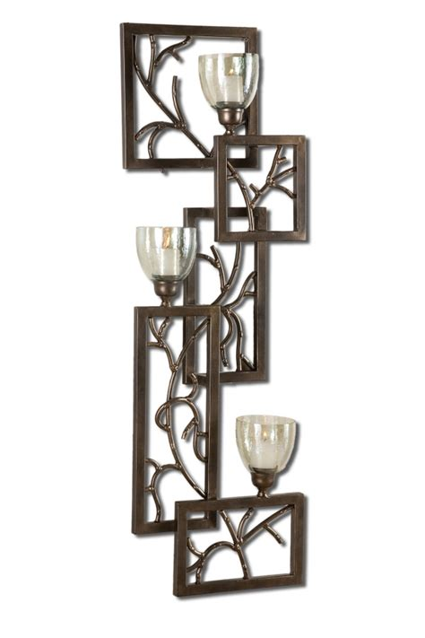 Iron Candle Sconce by Iron Branches Candle Wall Sconce Uvu19736