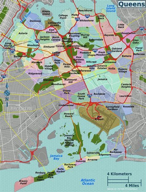 queens map map  queens  york city