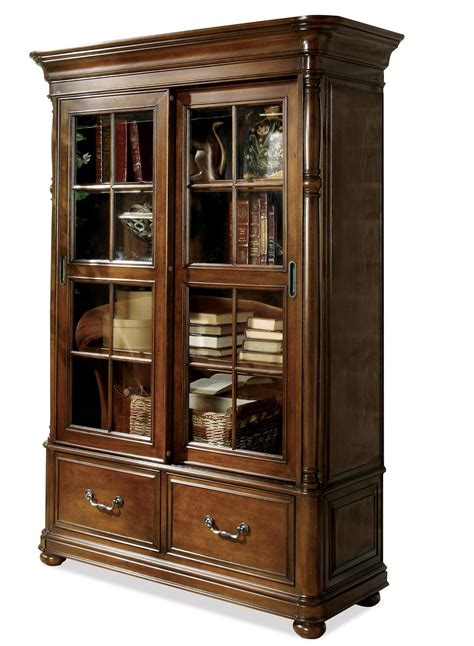 bookcase with sliding glass doors sliding glass door bookcase by riverside furniture
