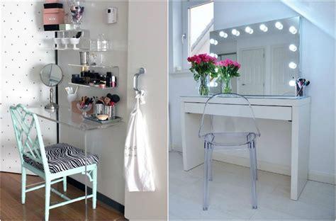 miroir mural chambre meuble coiffeuse maquilleuse idées chic à réaliser soi même
