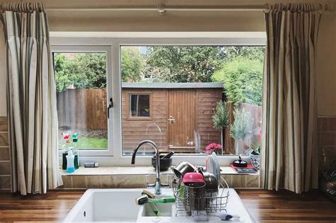 kitchen curtains   sink pictures  design tips