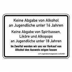 Alkohol Auf Rechnung : hinweisschild keine abgabe von alkohol an jugendliche unter 16 jahren aufkleber shop ~ Themetempest.com Abrechnung
