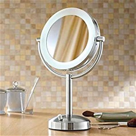 lighted makeup mirror amazon amazon com makeup mirror lighted dimmable 1x 10x