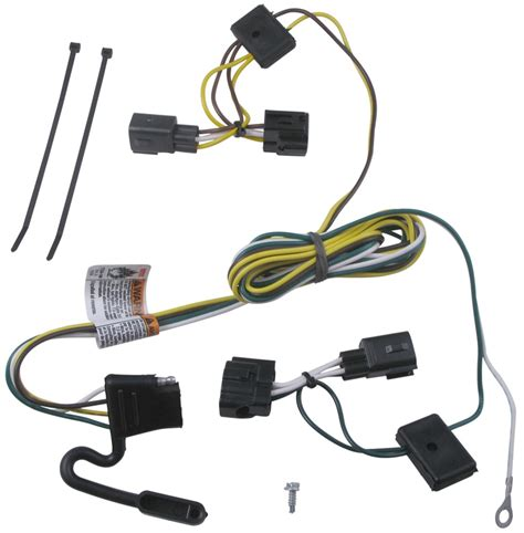 One Vehicle Wiring Harness With Pole Flat Trailer