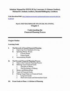 Solution Manual For Pfin3 3e By Lawrence Joehnk And