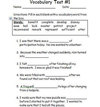 4th Grade Wordly Wise Vocabulary Tests By Teaching 4th With Style