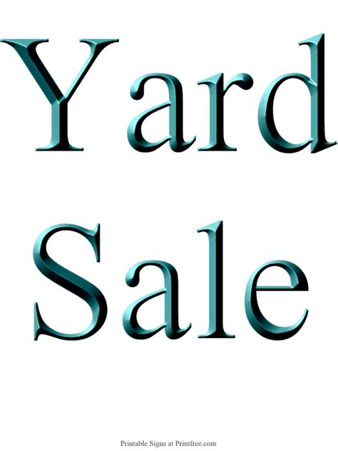 sale signs printable free printable yard sale signs birthday yard signs