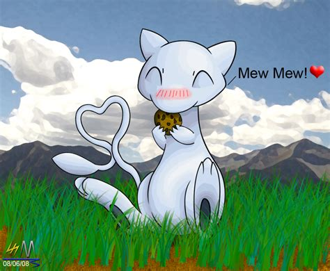 Shiny Mew Eating A Mini-cookie By Soldjermon On Deviantart