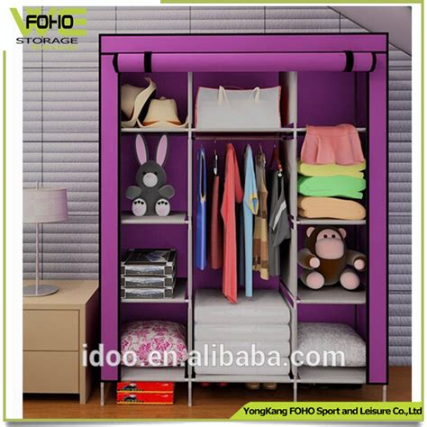 bedroom fabric foldable wardrobe closet 9 grid and a