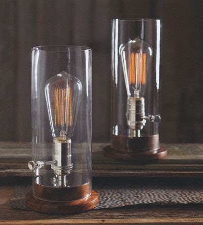 classic glass edison period tungsten filament table lamp