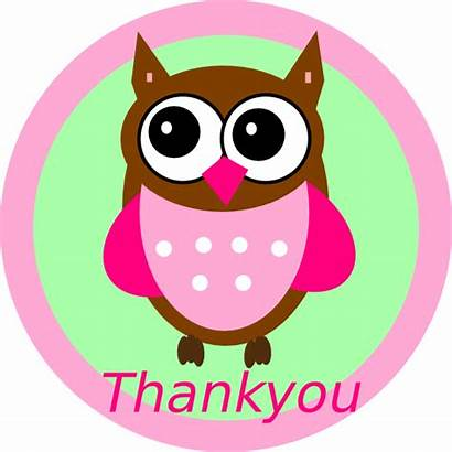 Thank Clip Clipart Owl Thankyou Disney Pink