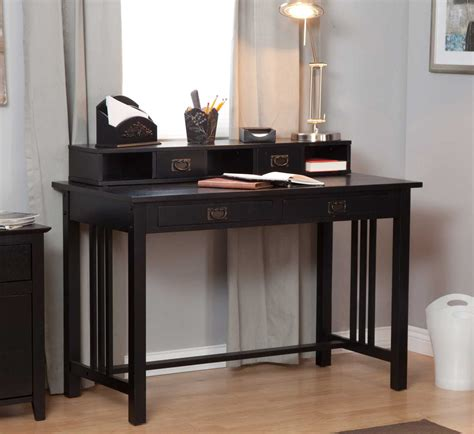 Black Writing Desk With Hutch by Black Writing Desks Feel The Home