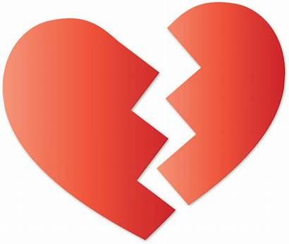Broken Heart Vector Clipart Domain 1995