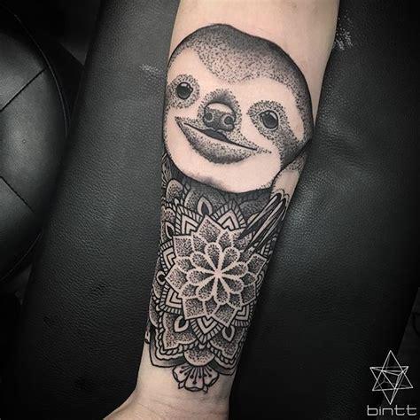 animals tattoo  sloth  mandala