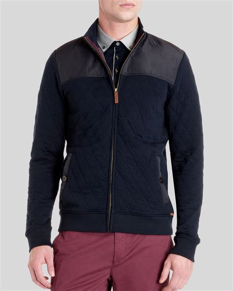 ted baker quilted jacket ted baker kartel quilted layering jacket in blue for