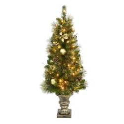 home accents holiday 4 ft golden holiday pre lit porch artificial christmas tree w ghp 48tp