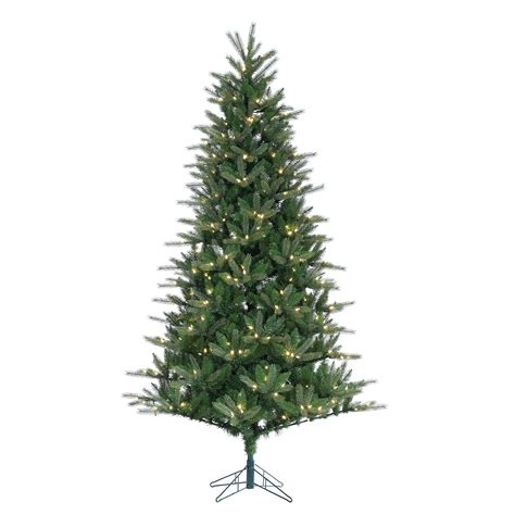 7 5 x 52 quot pre lit spruce artificial christmas tree w twinkling clear led light ebay