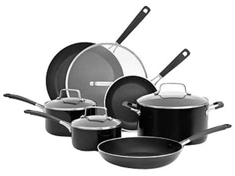 kitchenaid aluminum nonstick  piece cookware set black