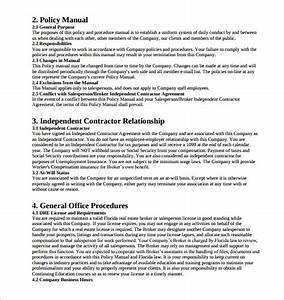 Free 9  Sample Policy Manual In Pdf