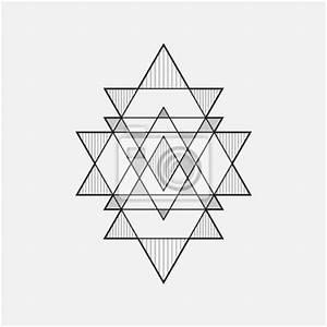Geometrische Formen Berechnen : geometrische formen line design dreieck notebook sticker aufkleber f r die wand polygonal ~ Themetempest.com Abrechnung