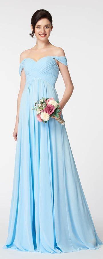 Light Blue Off the Shoulder Bridesmaid Dresses   Dresses ...