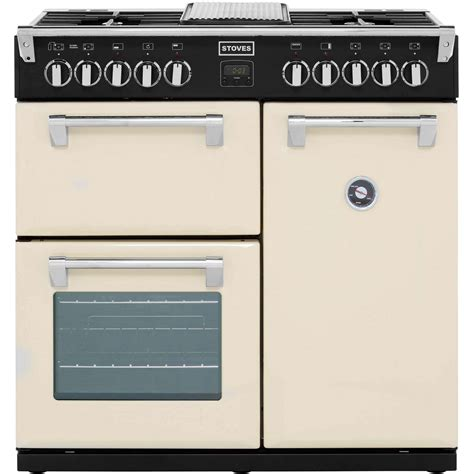stoves dual fuel range cooker stoves richmond900dft 90cm dual fuel range cooker chagne 93907