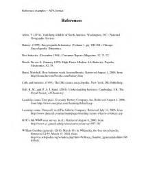 APA Bibliography Format Example