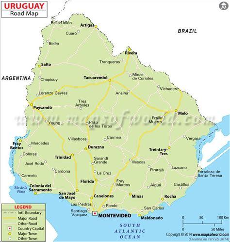 uruguay road map maps  pinterest