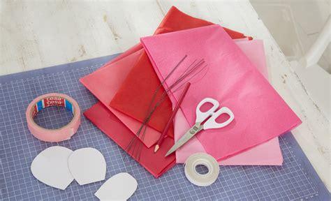 rosen aus seidenpapier basteln basteln selbstde