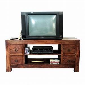 Meuble Hifi Bois : meuble tv en palissandre massif ensemble de salon style zen ~ Voncanada.com Idées de Décoration