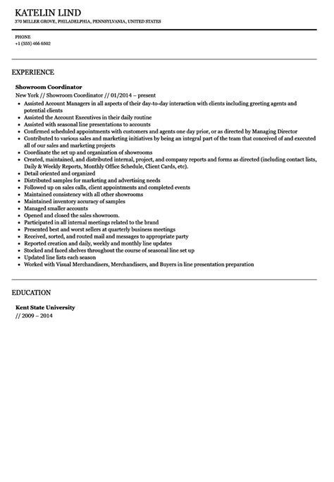 fashion showroom manager sle resume attendance template