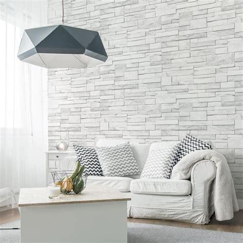 papier peint brique gris papier peint intiss 233 brique marbre gris leroy merlin