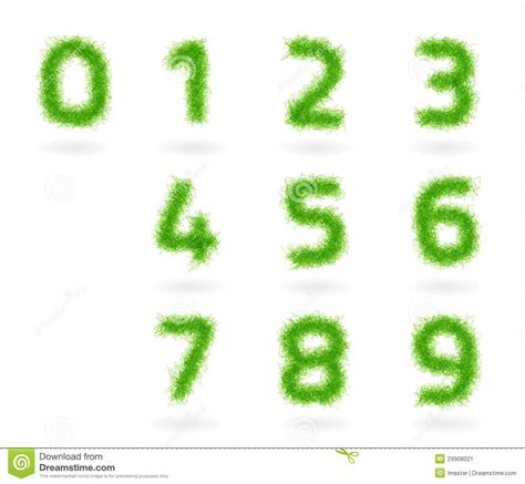 and numbers letter a made of grass stock vector set grass numbers stock image image 29908021